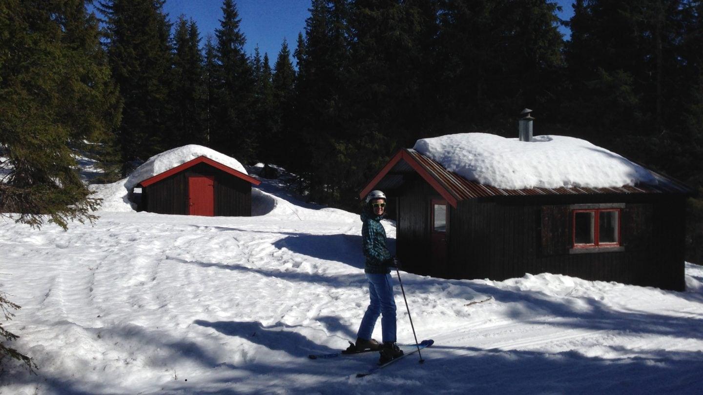 Birte beim Skifahren in Trysil in Norwegen