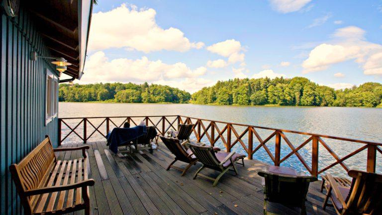 Beim Blick aus der Seesauna in Hamburg kann man herrlich entspannen.