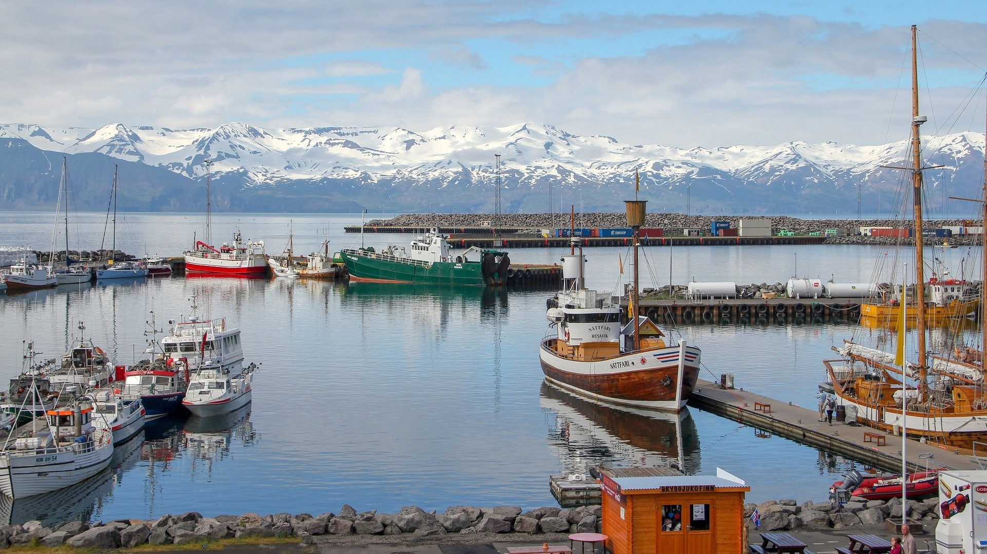 Husavik in Island im Winter.