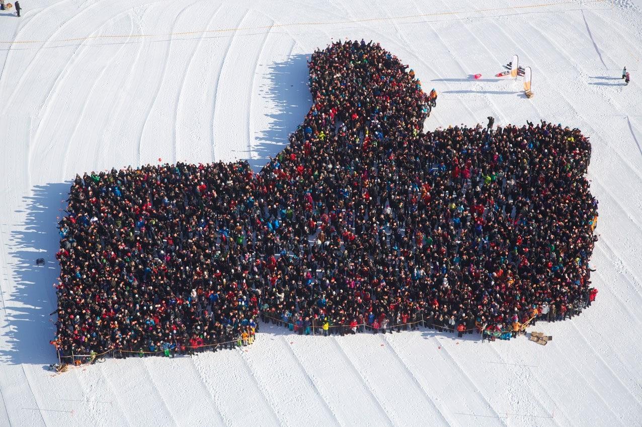 Der Facebook Daumen in Luleå steht im Guinness Buch der Weltrekorde.