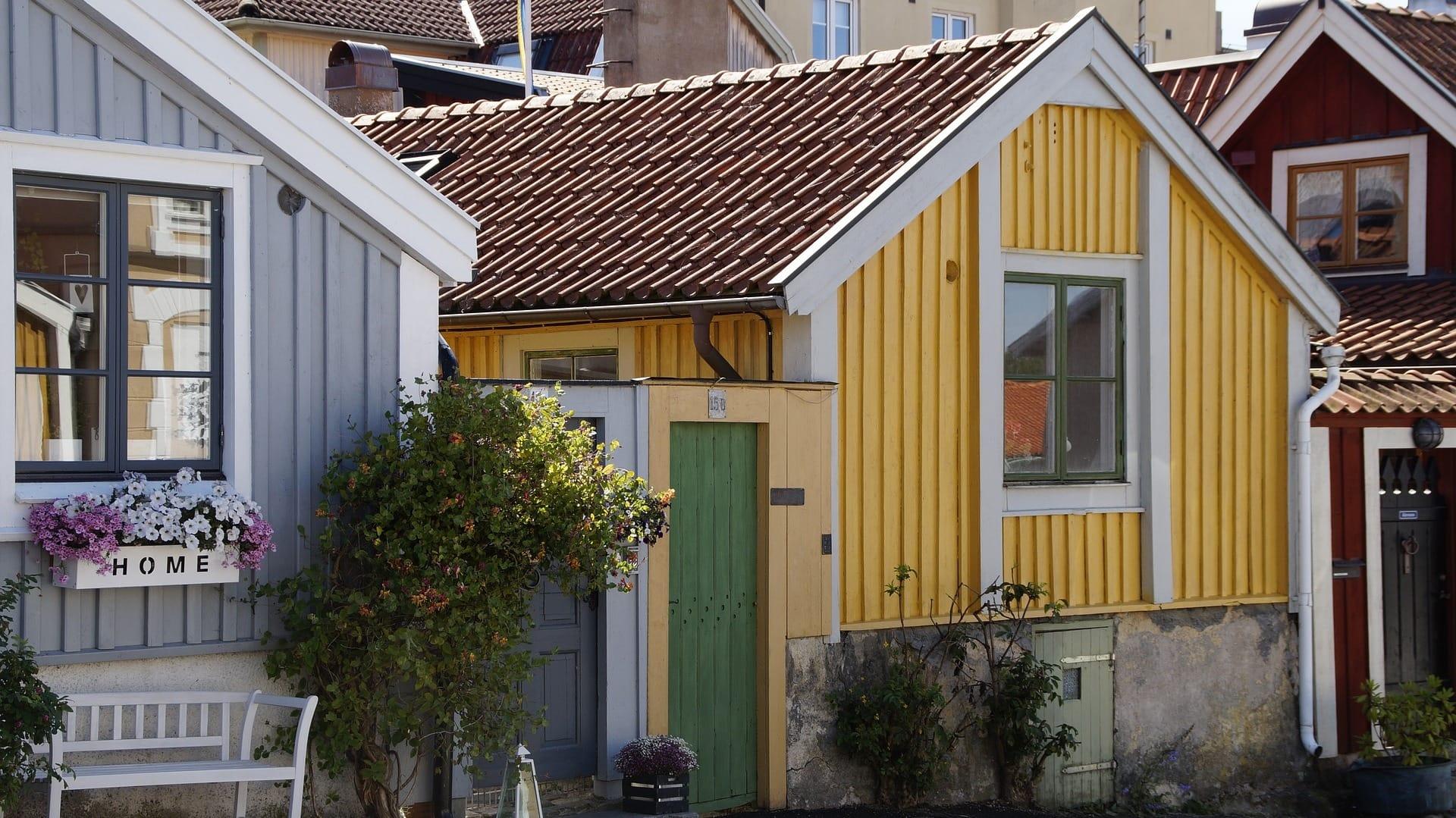 Holzhäuser in Kalmar in Schweden