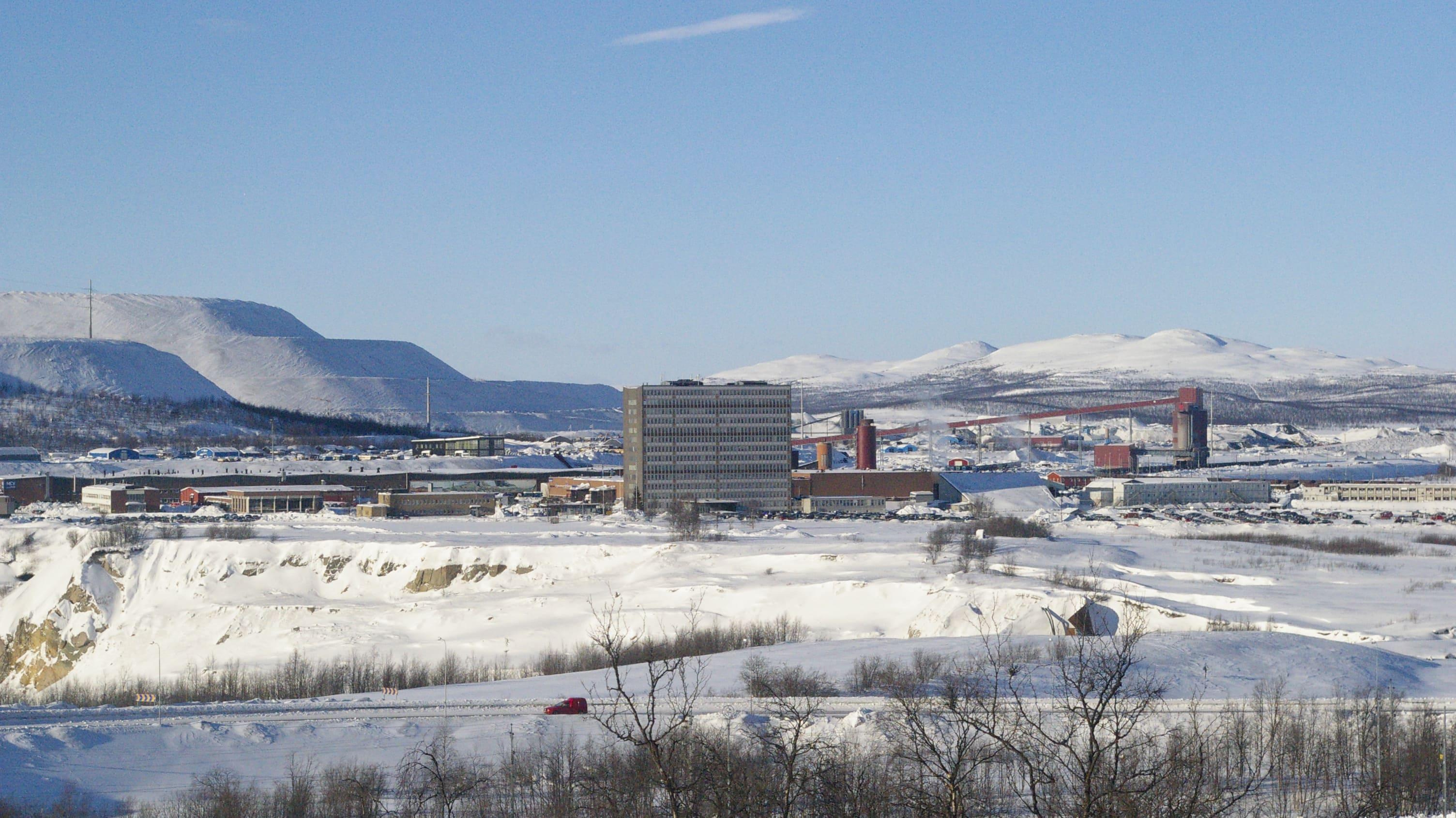 Blick auf die Erzmiene von Kiruna.