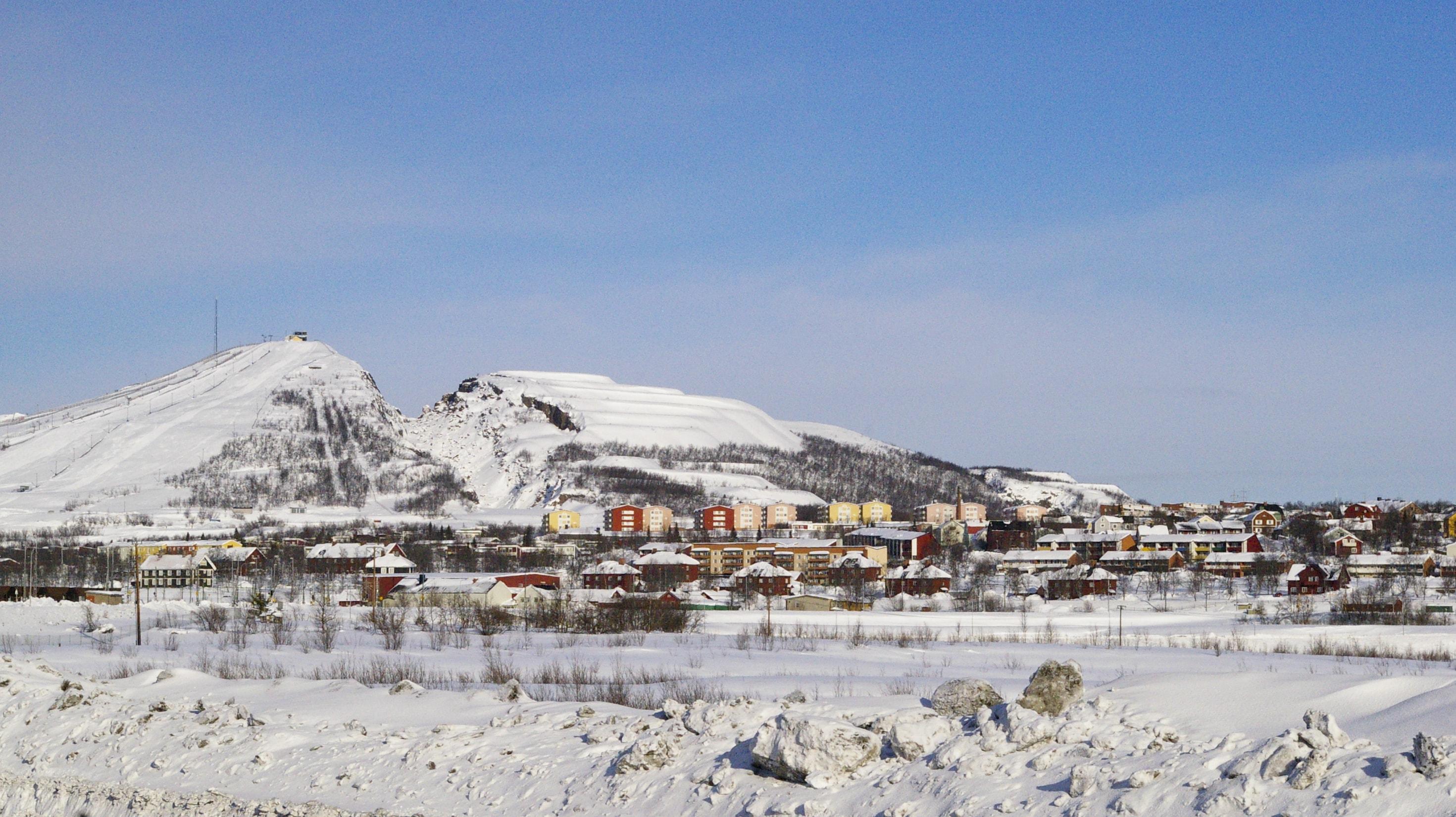 Kiruna ist eine Bergbauarbeiterstadt.