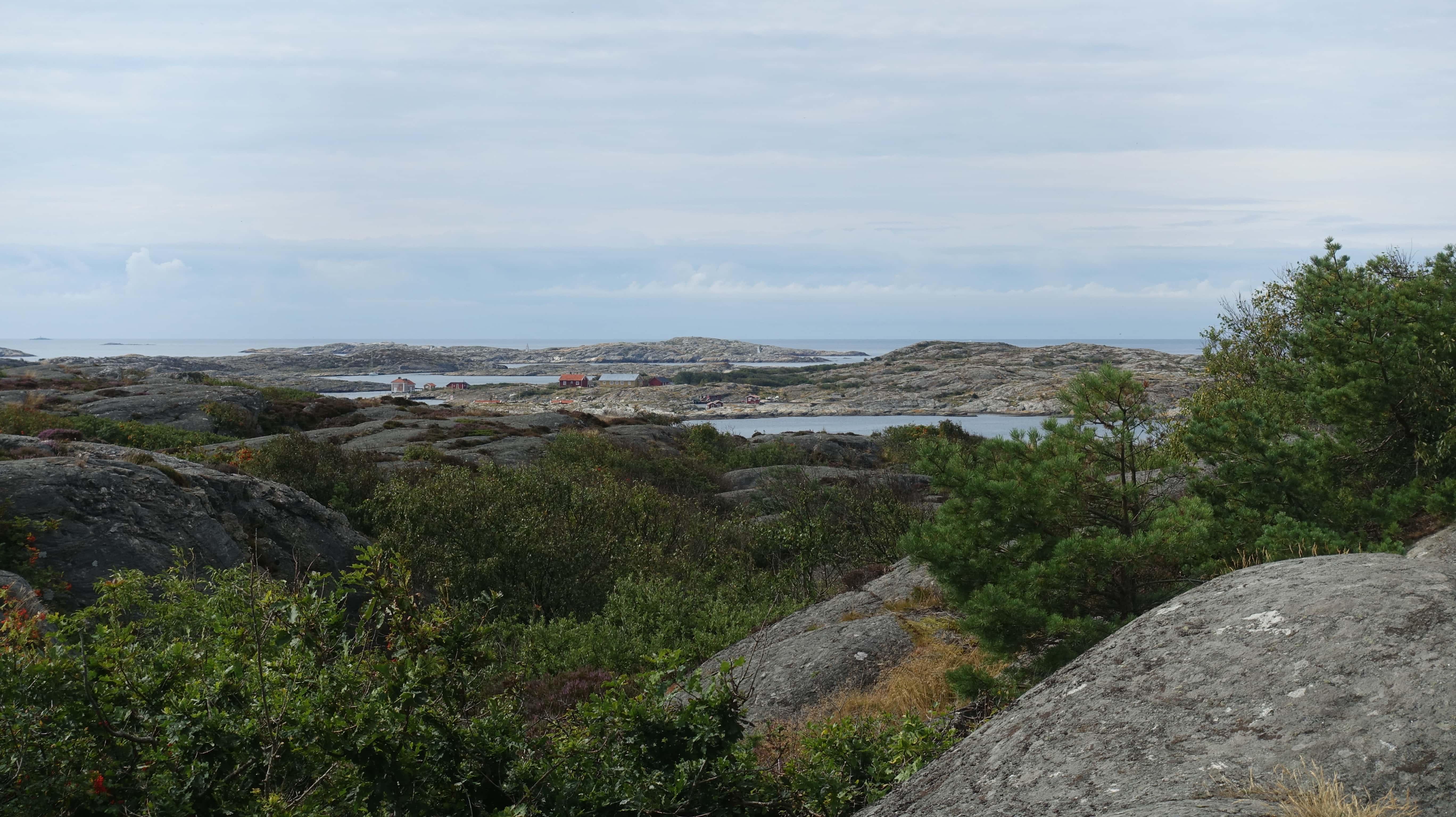 Die Schärenlandschaft an der Westküste wie hier auf Marstrand ist häufig steinig, kahl und rau