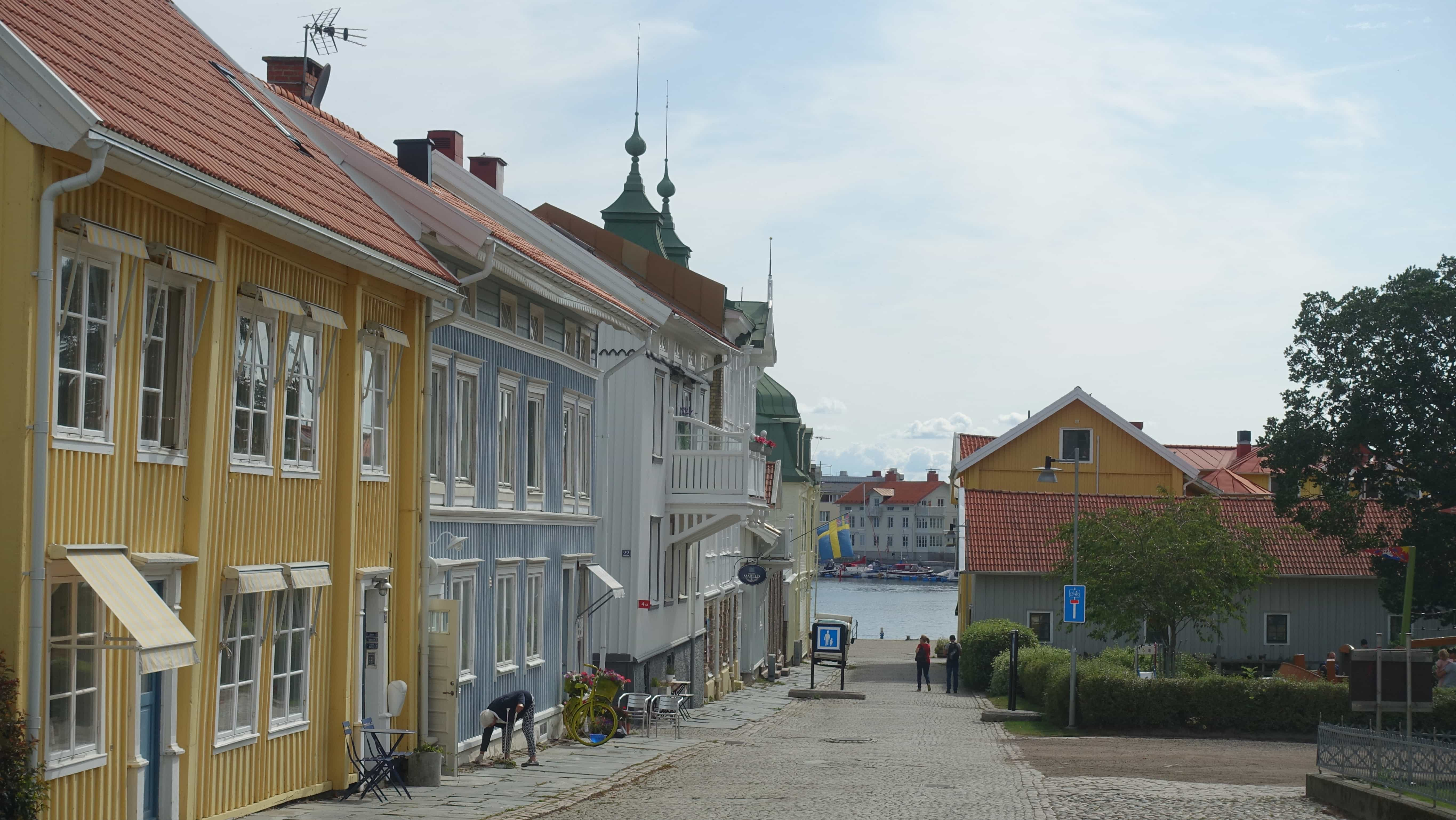 Bunte Häuser und enge Gassen sind typisch für Marstrand.