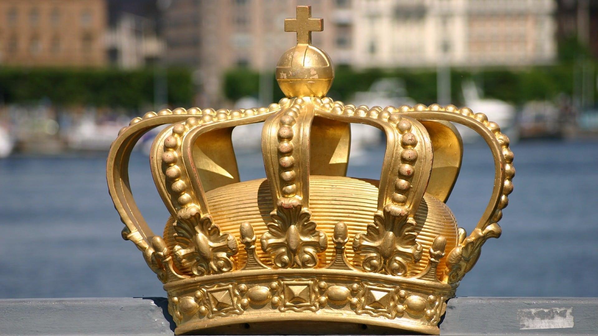 Die drei Kronen sind als Symbol Bestandteil des schwedischen Wappens